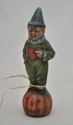 Chalkware Boy on Pumpkin by folkhearts on Etsy, $60.00