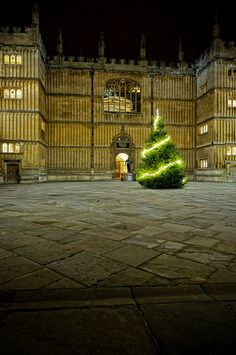 Bodleian Library at Christmas, Oxford, England