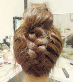 hairstyles for medium length hair updos - upside down inside out french braid!