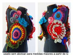 Colete Tear Crochê - Pronta Entrega  6f9e4193837db