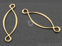24K Gold Vermeil Over  Sterling Silver Infinity by Beadspoint, $6.99