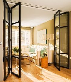 Wickes Folding Interior Door - Within a building or a home, interior doors are accustomed to separate one room from another Partition Door, Room Divider Doors, Room Dividers, Style Deco, Internal Doors, Door Design, Home Renovation, French Doors, Home Interior Design