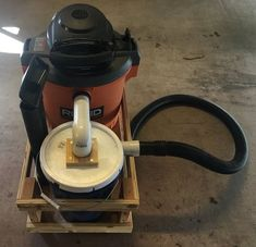 DIY shop vac cyclone and mobile cart