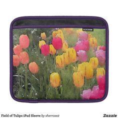 Field of Tulips iPad Sleeve