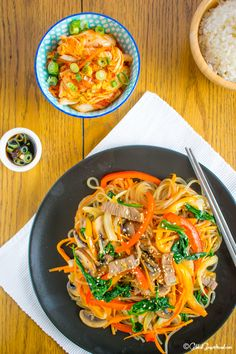 Best Ever Japchae Recipe 잡채 チャプチェ Japchae is one of my all time favourite dinners. A bona fide classic of Korean celebration food. Perfect for dinner parties, Chuseok and Seol.