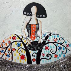 Menina inspirada en el Arbol de la Vida de Klimt SP886