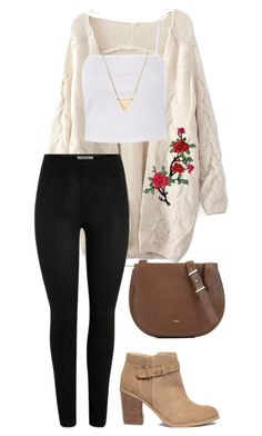 """#118"" by mintgreenb on Polyvore featuring Topshop, Furla, BaubleBar and Sole Society"