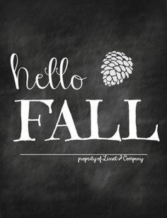 Hello Fall Chalkboard via Etsy Fall Chalkboard, Chalkboard Print, Chalkboard Designs, Chalkboard Ideas, Chalkboard Quotes, Chalkboard Lettering, Christmas Chalkboard, Lettering Art, Chalk It Up