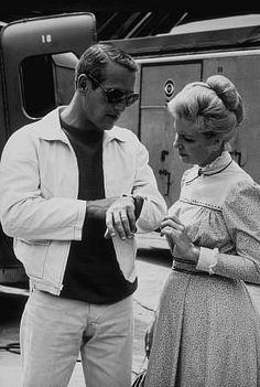 Paul Newman & Joanne Woodward, 1966.