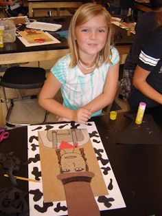 2nd grade artists are learning about how to create portraits! We read a book about cowboys and cowgirls and drew a self-portrait while imagining that we were a cowboy or cowgirl!