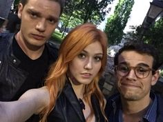 Jace, Clary, Simon... Welcome to the Shadow World... #ShadowhuntersChat @/FreeformTV @/ShadowhuntersTV #Shadowhunters