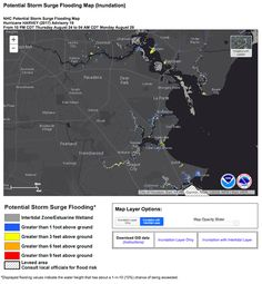 Potential storm surge flooding from Hurricane Harvey