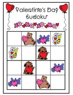 Valentine's Day Sudoku freebie.
