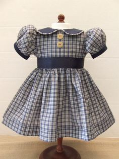 American Girl....Kit, Molly, Emily, Ruthie....Navy check dress