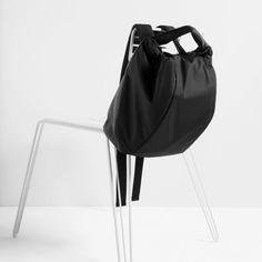 #zara #backpack #black #fabric #nylon