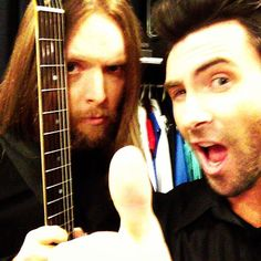 I only take Instagram photos with James for some reason.  Lets do this MSG!!! - @adamlevine- #webstagram
