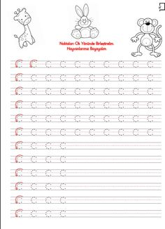Düzenli Çizgi Çalışması Preschool Writing, Preschool Worksheets, Christmas Color By Number, Christmas Colors, Alphabet, Templates, How To Plan, Writing Exercises, Initials