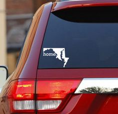 Maryland Home State Car Decal Sticker. $6.95, via Etsy.
