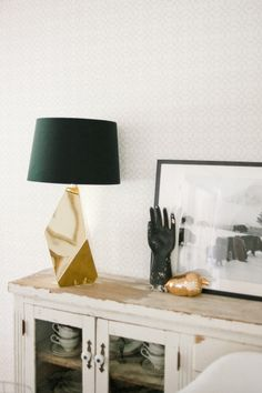 Sculptural lamp base: http://www.stylemepretty.com/living/2015/04/22/15-gleaming-gold-accents/