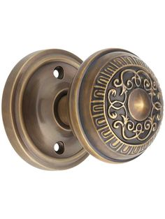 Classic Rosette Door Set with Egg & Dart Knobs in Antique-By-Hand | House of Antique Hardware