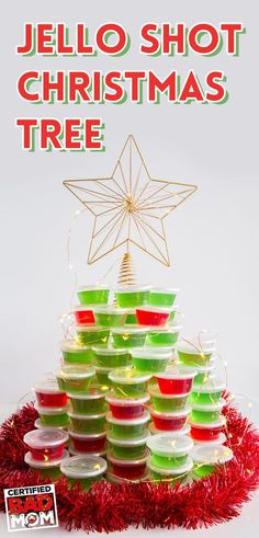 Now THIS is a Christmas tree any Mom wouldn't mind decorating! DIY Jello Shot Christmas Tree | Booze Tree | Take Christmas back with A Bad Mom's Christmas - see it in theaters in November. #BadMomsXmas. Photo by @jessdunnthis