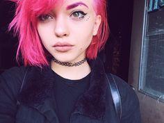 vibrant locks // hair // colour // hair dye // bright // aesthetic // grunge // pastel // pink