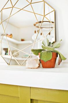 Gem Mirror DIY + Easy Mirror Cutting Technique