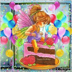 Happy Birthday, Geburtstag Happy Birthday, Lets Celebrate, Birthdays, Gifs, Angel, Animation, Children, Painting, Pictures