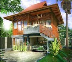 Resultado de imagen para rumah kayu dan bata