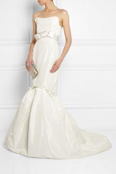Lanvin | Strapless faille gown | NET-A-PORTER.COM
