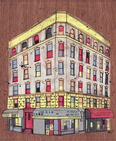Se trata de All the buildings of New York, un encantador viaje ilustrado por la ciudad de Nueva York, a través de sus edificios. Su autor, el ilustrador y diseñador James Gulliver Hancock, ha dedicado gran parte de su tiempo a ilustrar una gran cantidad de edificios de la ciudad y los ha reunido en un libro lleno de color u de detalles únicos.