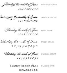 Signature White Save the Date Cards Vine by Wedding Paper Divas