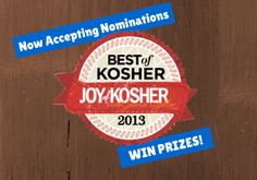 Nominate your favorite in 8 categories and be entered to win kitchen gadgets.