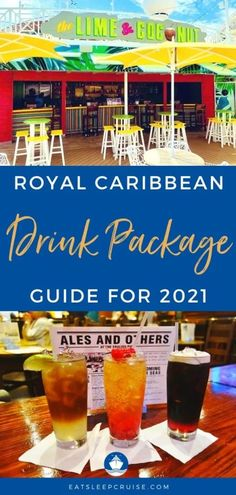 Our Complete Guide to Royal Caribbean Drink Packages (2021) covers all the plans and pricing to help you decide if they are worth it. #cruise #cruisedrinks #drinkpackage #cruisetips #cruiseplanning