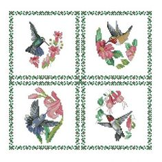 ALL STITCHES - HUMMINGBIRDS CROSS STITCH PATTERN .PDF -441 ...