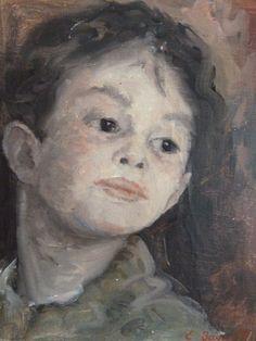 Portrait d'un petit enfant (22 x 16 cm)
