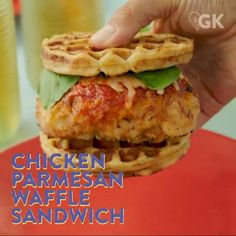 Save the recipe! Waffle Sandwich, Most Popular Recipes, Us Foods, Parmesan, Waffles, Spicy, Sandwiches, Tacos, Chicken