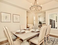 Silverton dining room with Feiss Chandelier and Dovetail dining table Dining Room, Dining Table, Local Real Estate, Staging, Vignettes, Chandelier, Furniture, Home Decor, Dinner Room
