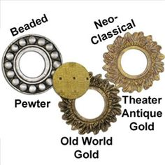 $12.95 Finestra Button Borders create a custom ambiance for your home decor projects.  Easy to use and available in 3 beautiful finishes.      Pewter     Old World Gold     Theater Antique Gold