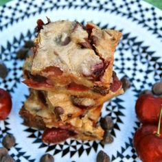 Chocolate Chip Cherry Blondies recipe