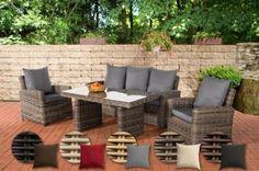 Poly-Rattan Garten-Sitzgruppe FISOLO, 5 mm RUND Rattan, Aluminium-Gestell (3er Sofa, 2 Sessel + Tisch 140 x 80 cm) Jetzt bestellen unter: https://moebel.ladendirekt.de/garten/gartenmoebel/gartenmoebel-set/?uid=9412d529-a26d-5798-be26-24afd186d1bd&utm_source=pinterest&utm_medium=pin&utm_campaign=boards #garten #gartenmoebel #gartenmoebelset