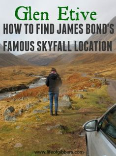 Scotland. Have you ever wanted to stand in the famous James Bond Skyfall location? Take a Scottish road trip to reach the iconic spot in Glen Etive, Scotland.