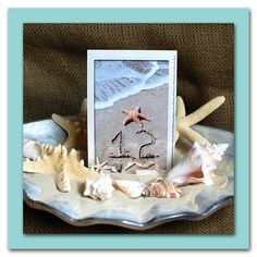 Beach Theme Wedding-Sand and Shore Table Numbers