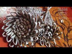 (55) Tutorial fiore con cannucce di carta - YouTube