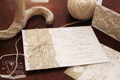 Printable Wedding Invitations - VINTAGE LACE - 'Sweet' design. $14.00, via Etsy.