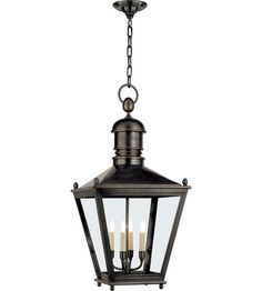 33H  16W  $1600 Visual Comfort E.F. Chapman Sussex 3 Light Outdoor Hanging Lantern in Bronze CHO5033BZ #visualcomfort #lightingnewyork #lighting