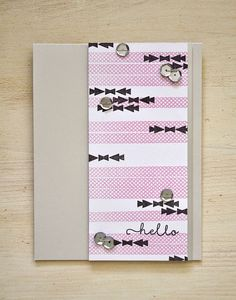 Hello Card by Maile Belles for Papertrey Ink (May 2015)