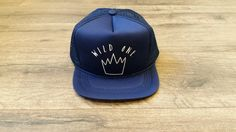 WILD ONE Baby Snapback Toddler Trucker Hat Navy by LAHIdesign