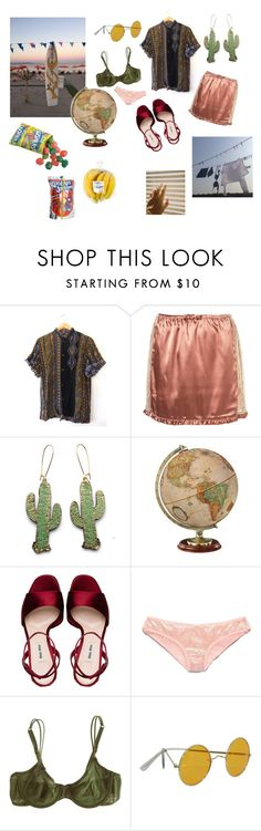 """""""For my travel around the world all I will ever need is..."""" by sannalagesenfenheim on Polyvore featuring Rosita Bonita, Miu Miu, Victoria's Secret and Cosabella"""