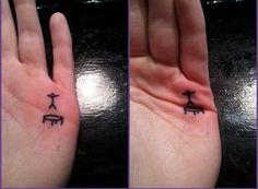teken dit op de hand van je kind als het zich verveelt....trampoline springen